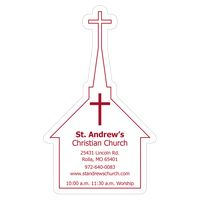 "592227863-183 - Church 0.02"" Thick Vinyl Die Cut Large Stock Magnet - thumbnail"