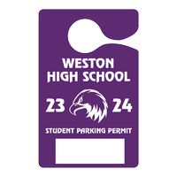 "705048445-183 - Plastic 35 pt. Hanging Parking Permit (3""x4 3/4"") - thumbnail"