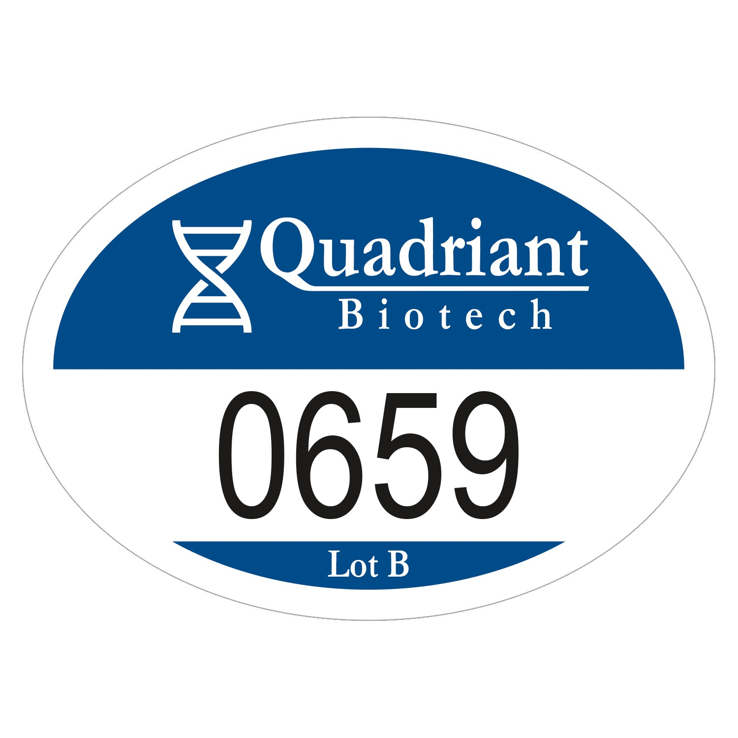 "715932486-183 - Oval White Vinyl Numbered Outside Parking Permit Decal (2""x2 3/4"") - thumbnail"