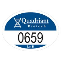 """715932486-183 - Oval White Vinyl Numbered Outside Parking Permit Decal (2""""x2 3/4"""") - thumbnail"""