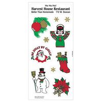 74564945-183 - White Paper Christmas Holiday Sticker Sheet (Snowman/ Snow Angel) - thumbnail