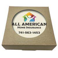755048396-183 - Set of 4 Square Absorbent Stone Coasters w/ Natural Kraft Box - thumbnail