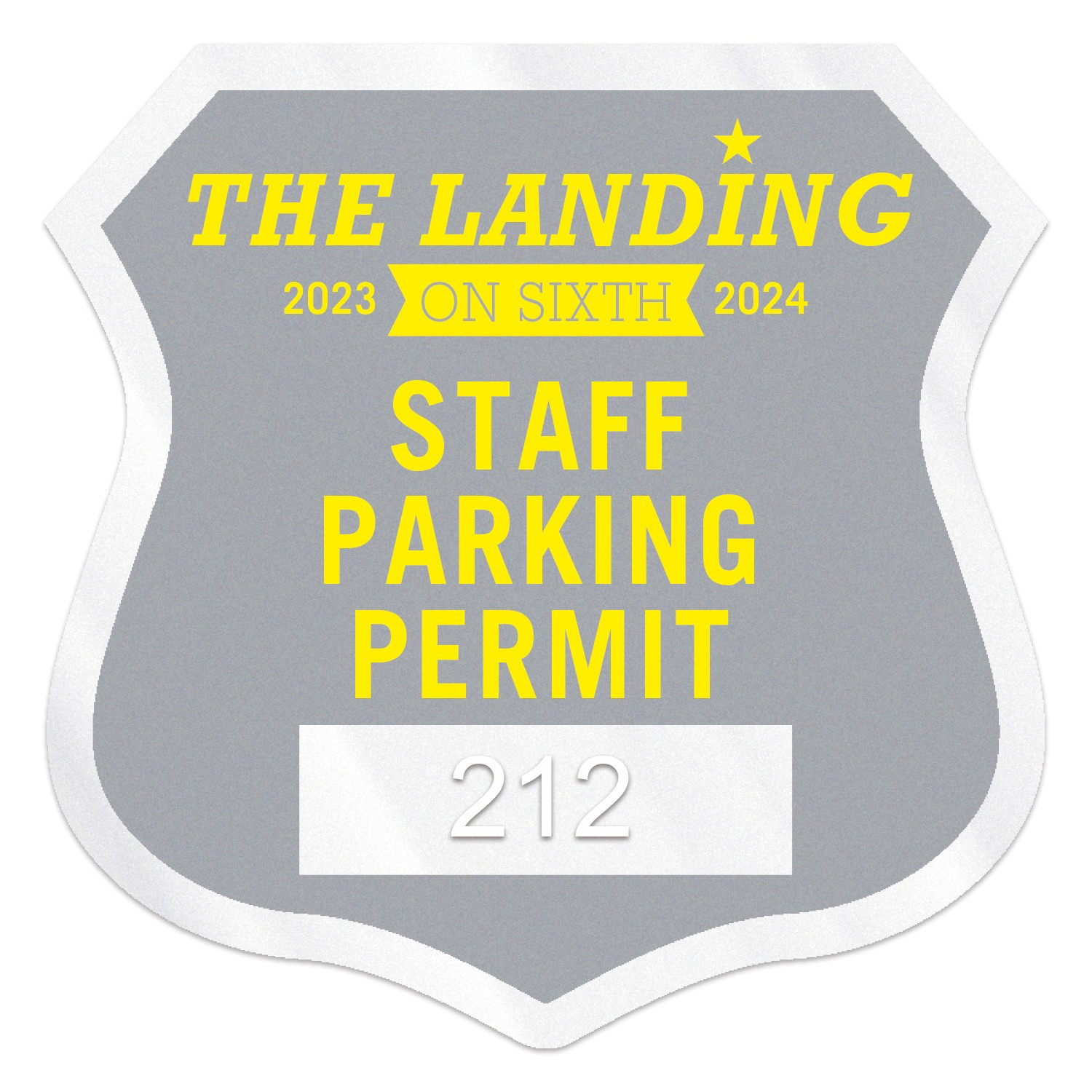 "755932461-183 - Shield Clear Static Numbered Inside Parking Permit Decal (2 3/4""x2 3/4"") - thumbnail"