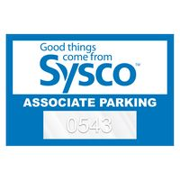"755932466-183 - Horizontal Rectangle Clear Polyester Numbered Inside Parking Permit Decal (2""x3"") - thumbnail"