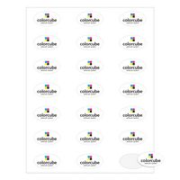 """764676428-183 - Oval Quick & Colorful Sheeted Label (1""""x1 3/4"""") - thumbnail"""
