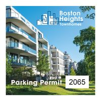 """785489555-183 - Square White Vinyl Full Color Outside Parking Permit Decal (3""""x3"""") - thumbnail"""