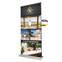 954294117-183 - Indoor Double Sided Retractor Banner Stand w/ Banner - thumbnail
