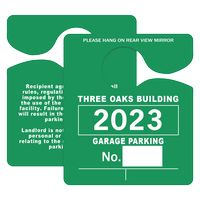 "962863033-183 - Plastic 10 pt. Hanging Parking Permit (3""x3 1/2"") - thumbnail"