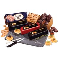 105146654-117 - Genuine Slate Cheese Plate with Shelf-Stable Party Favorites - thumbnail