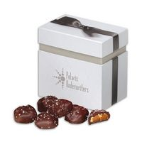 116076536-117 - Sea Salt Almond Turtles in Elegant Treats Gift Box - thumbnail