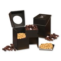 165449213-117 - Faux Leather Desktop Storage Box with Virginia Peanuts and Dark Chocolate Almonds - thumbnail