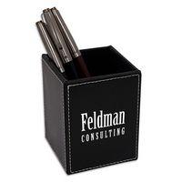 305336034-117 - Faux Leather Pen & Pencil Cup - thumbnail