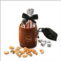 306040329-117 - Classic Wooden Barrel Cup with Extra Fancy Jumbo Cashews - thumbnail