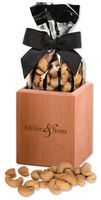 38960389-117 - Hardwood Pen & Pencil Cup with Extra Fancy Jumbo Cashews - thumbnail
