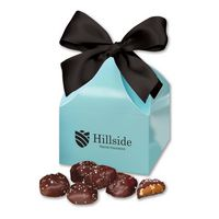756076510-117 - Sea Salt Almond Turtles in Robin's Egg Blue Classic Treats Gift Box - thumbnail