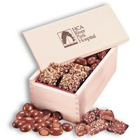 915373336-117 - English Butter Toffee & Chocolate Covered Almonds in Wooden Collector's Box - thumbnail