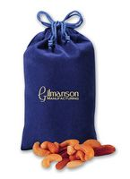 925373509-117 - Deluxe Mixed Nuts in Blue Velour Gift Bag - thumbnail