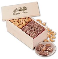 944471659-117 - Toffee & Jumbo Cashews in Wooden Collector's Box - thumbnail
