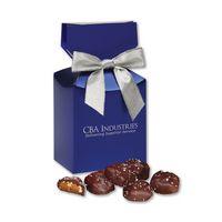 986076528-117 - Sea Salt Almond Turtles in Blue Premium Delights Gift Box - thumbnail