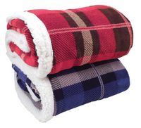 104493759-814 - Lambswool Microsherpa Plaid Throw Blanket - thumbnail