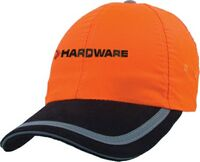 784093758-814 - 6 Panel Fluorescent Polyester Safety Cap - thumbnail