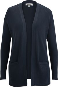 776499786-822 - Open Front Cardigan with Pockets - thumbnail