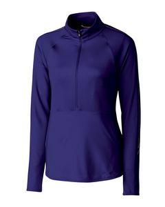 155436670-106 - Ladies' Cutter & Buck® Pennant 3/4-Zip Sport Shirt - thumbnail