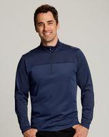 165706514-106 - Men's Cutter & Buck® Traverse Stripe Half-Zip Shirt (Big & Tall) - thumbnail