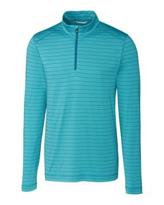 325706136-106 - Men's Cutter & Buck® Holman Stripe Half-Zip Shirt - thumbnail
