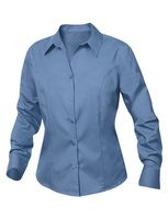 534497621-106 - Women's Plus Clique® Long Sleeve Caitlin Stain Resistant Twill Shirt - thumbnail