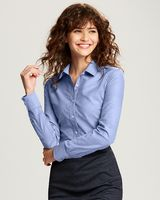 735705815-106 - Cutter & Buck Ladies Long Sleeve Stretch Oxford - thumbnail