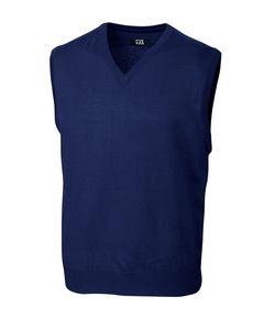 754494090-106 - Men's Cutter & Buck® Douglas V-Neck Vest - thumbnail