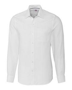 904934797-106 - Men's Cutter & Buck® Tailored Fit Nailshead Dress Shirt w/Spread Collar - thumbnail