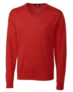 924494088-106 - Men's Cutter & Buck® Douglas V-Neck Sweater (Big & Tall) - thumbnail