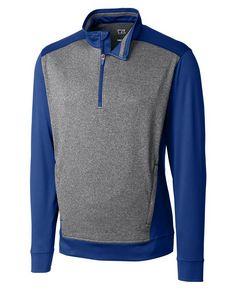 925437959-106 - Men's Cutter & Buck® Replay Half-Zip Shirt (Big & Tall) - thumbnail