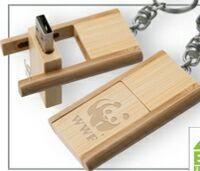 123299151-142 - Kayu Wood USB Flash Drive w/ Keychain (512 MB) - thumbnail