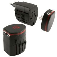 383681115-142 - Froid Universal Travel Adapter w/2 USB Ports - thumbnail