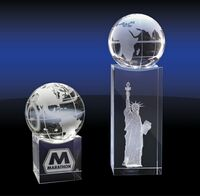 743149605-142 - Crystal Globe on Base (Large) - thumbnail