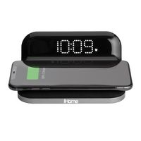 986189884-142 - iHome IW18 Compact Alarm Clock with Qi Wireless and USB Charging - thumbnail