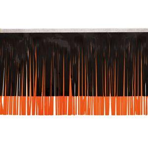 "106197648-108 - Victory Corps Standard Black & Orange Fringe (15"") - thumbnail"