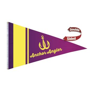 116058211-108 - Nylon Pennant Flag (Double-Sided) - 6' x 10' - thumbnail