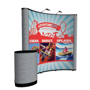 194022033-108 - 8' Curved Show 'N Rise Floor Display Kit (Mural with Fabric) - thumbnail