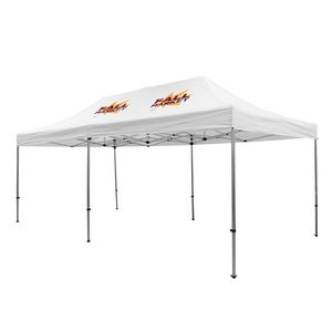 305009834-108 - Premium Aluminum 20' Tent Kit (Imprinted, 2 Locations) - thumbnail