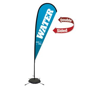 373728260-108 - 11.5' Premium Teardrop Sail Sign, 2-Sided, Scissor Base - thumbnail