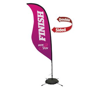 374032293-108 - 9' Premium Sabre Sail Sign, 2-Sided, Scissor Base - thumbnail
