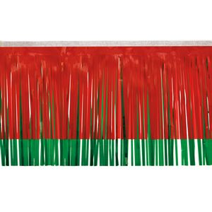 """506197649-108 - Victory Corps Standard Red & Dark Green Fringe (15"""") - thumbnail"""