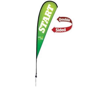 513728248-108 - 15' Premium Teardrop Sail Sign, 2-Sided, Ground Spike - thumbnail