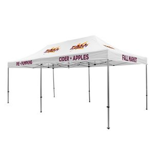 535009842-108 - Premium Aluminum 20' Tent Kit (Imprinted, 10 Locations) - thumbnail