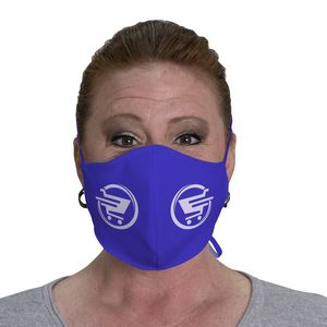 546259990-108 - Imprinted Face Cover with fabric ties (Pack of 12) - thumbnail