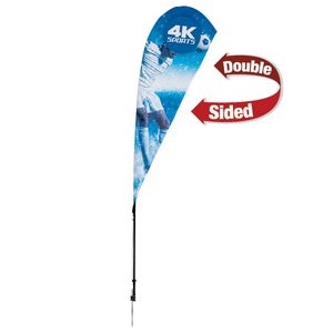 575009629-108 - 8' Streamline Teardrop Sail Sign, 2-Sided, Ground Spike - thumbnail